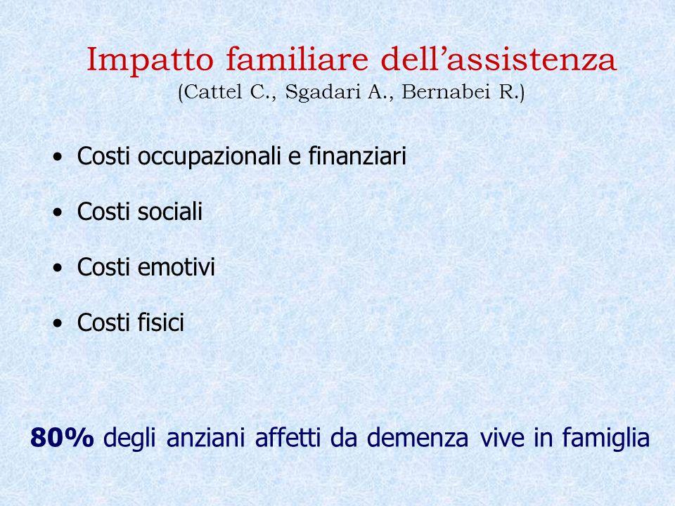 Impatto familiare dell'assistenza (Cattel C., Sgadari A., Bernabei R.)