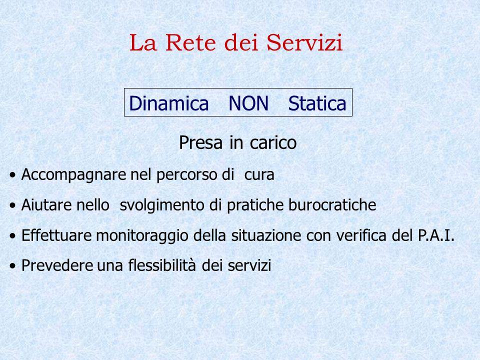 La Rete dei Servizi Dinamica NON Statica Presa in carico