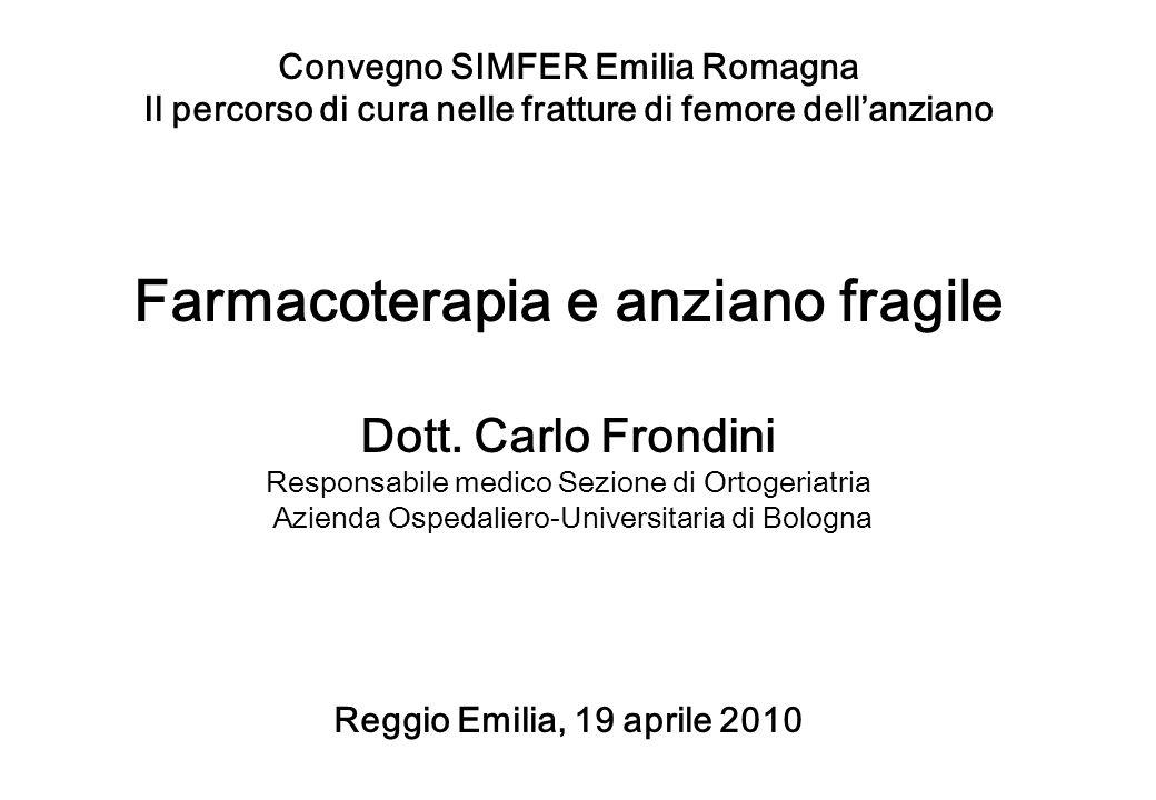 Farmacoterapia e anziano fragile