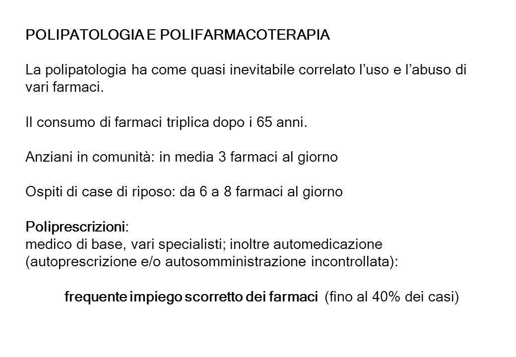 POLIPATOLOGIA E POLIFARMACOTERAPIA
