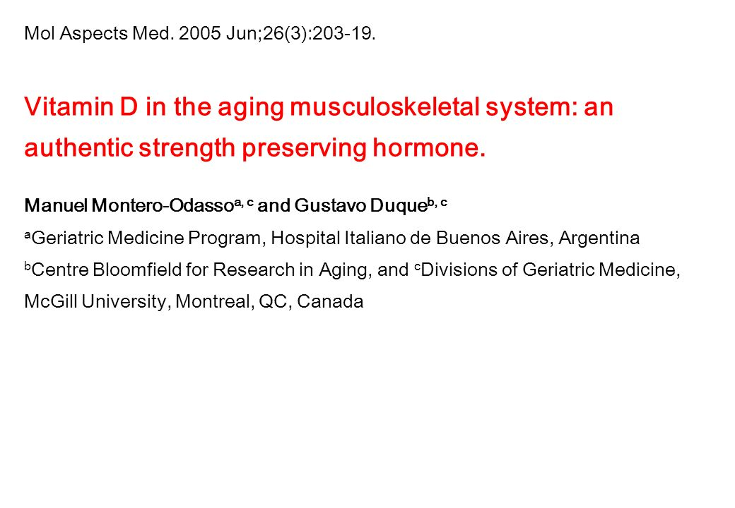Vitamin D in the aging musculoskeletal system: an