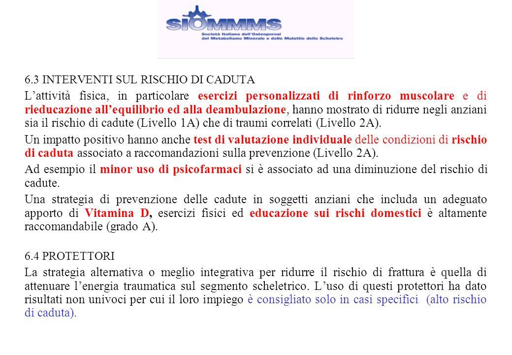 6.3 INTERVENTI SUL RISCHIO DI CADUTA