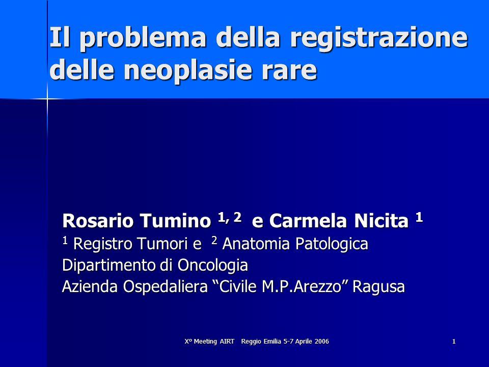 Il problema della registrazione delle neoplasie rare
