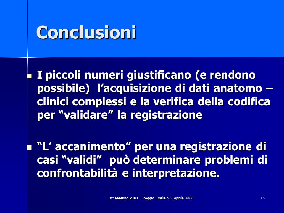 X° Meeting AIRT Reggio Emilia 5-7 Aprile 2006