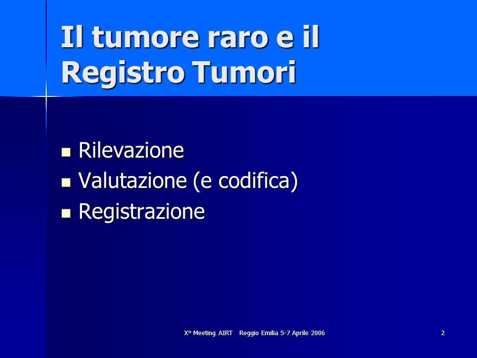 Il tumore raro e il Registro Tumori