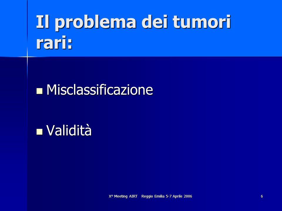 Il problema dei tumori rari: