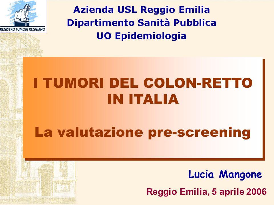 Azienda USL Reggio Emilia Dipartimento Sanità Pubblica