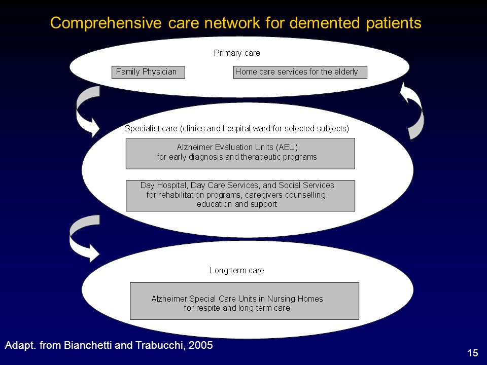 Comprehensive care network for demented patients
