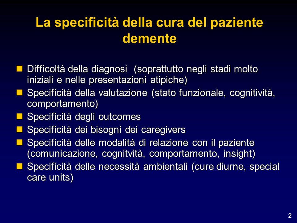 La specificità della cura del paziente demente
