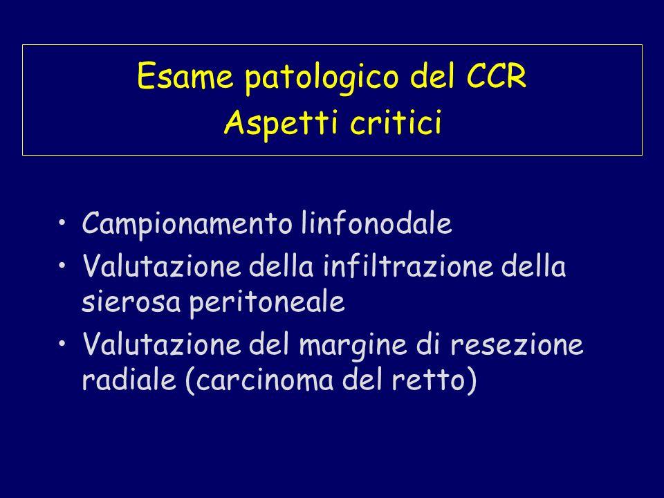 Esame patologico del CCR Aspetti critici