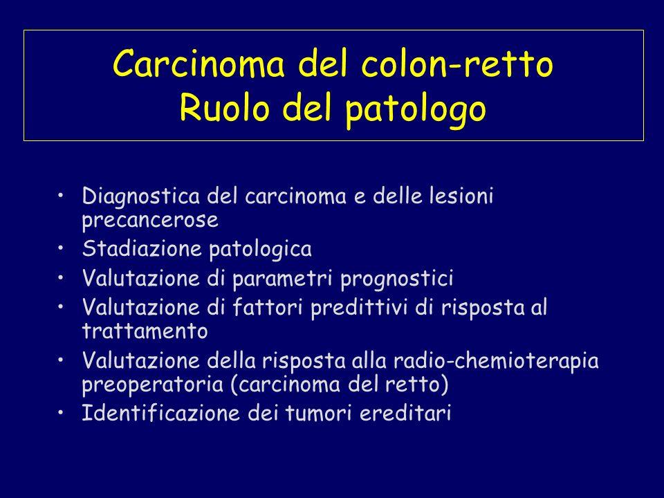 Carcinoma del colon-retto Ruolo del patologo
