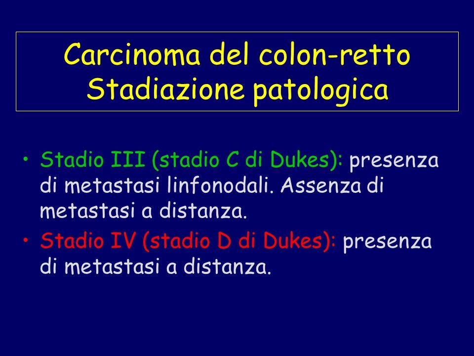 Carcinoma del colon-retto Stadiazione patologica