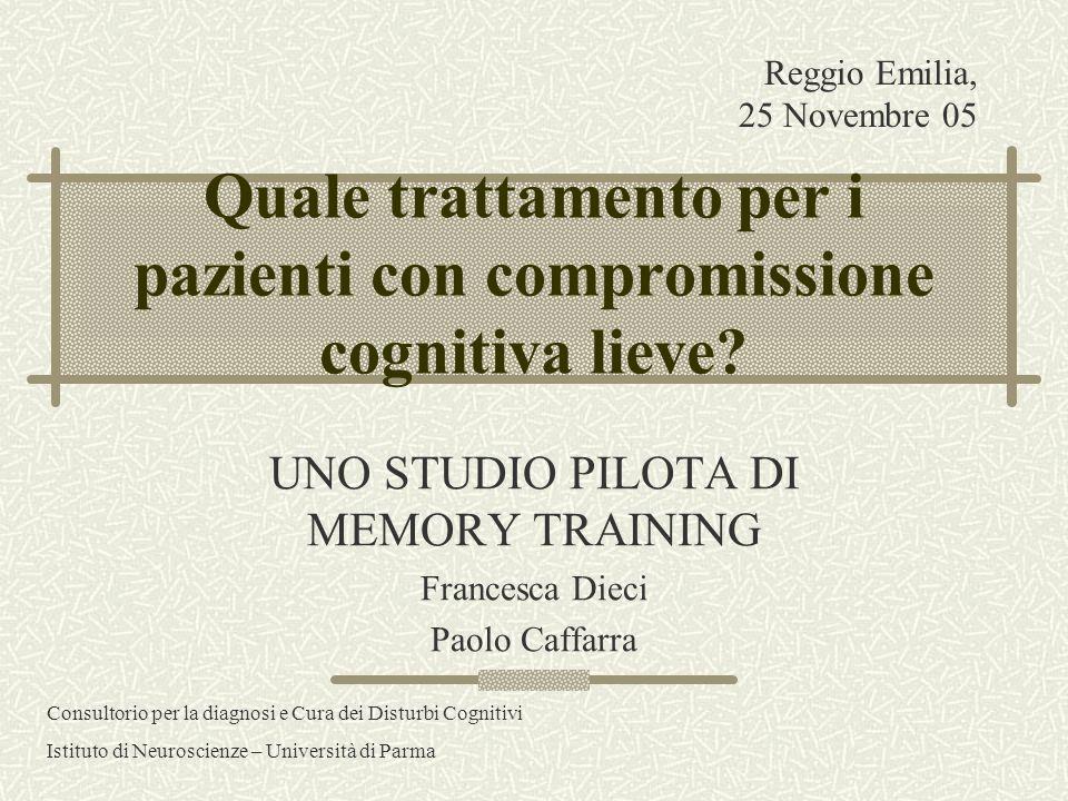 Quale trattamento per i pazienti con compromissione cognitiva lieve