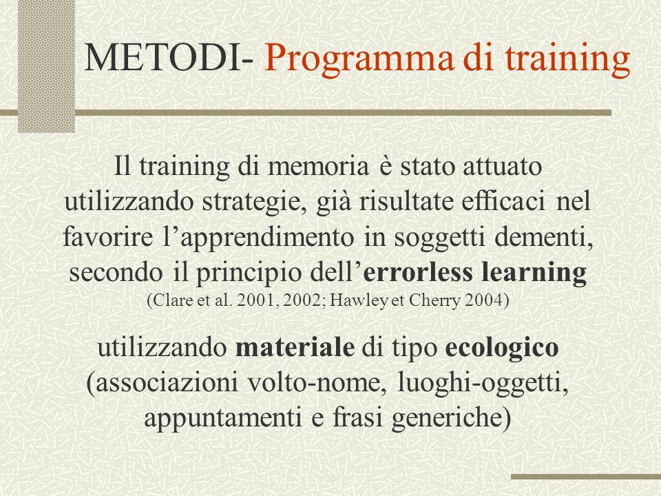 METODI- Programma di training