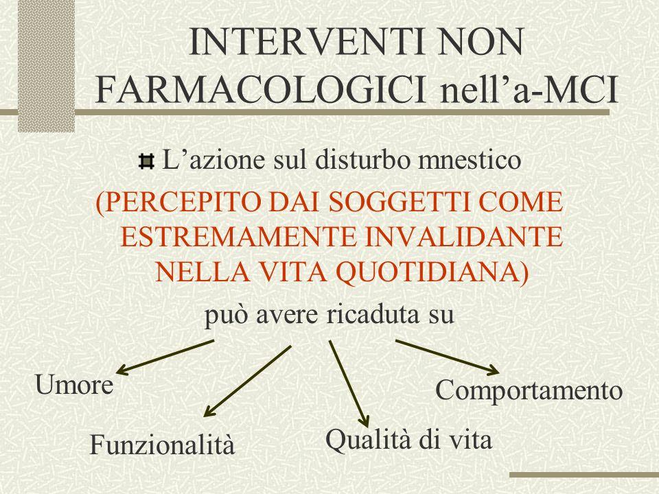 INTERVENTI NON FARMACOLOGICI nell'a-MCI