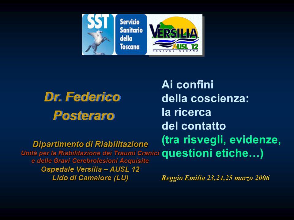 Dr. Federico Posteraro Ai confini della coscienza: la ricerca