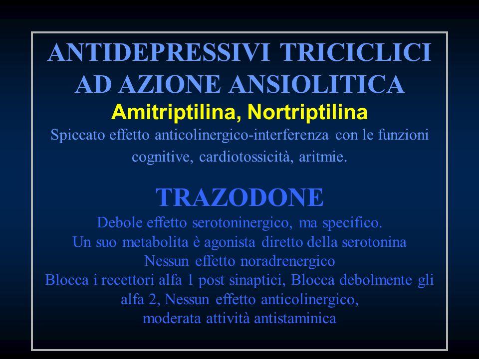 ANTIDEPRESSIVI TRICICLICI AD AZIONE ANSIOLITICA