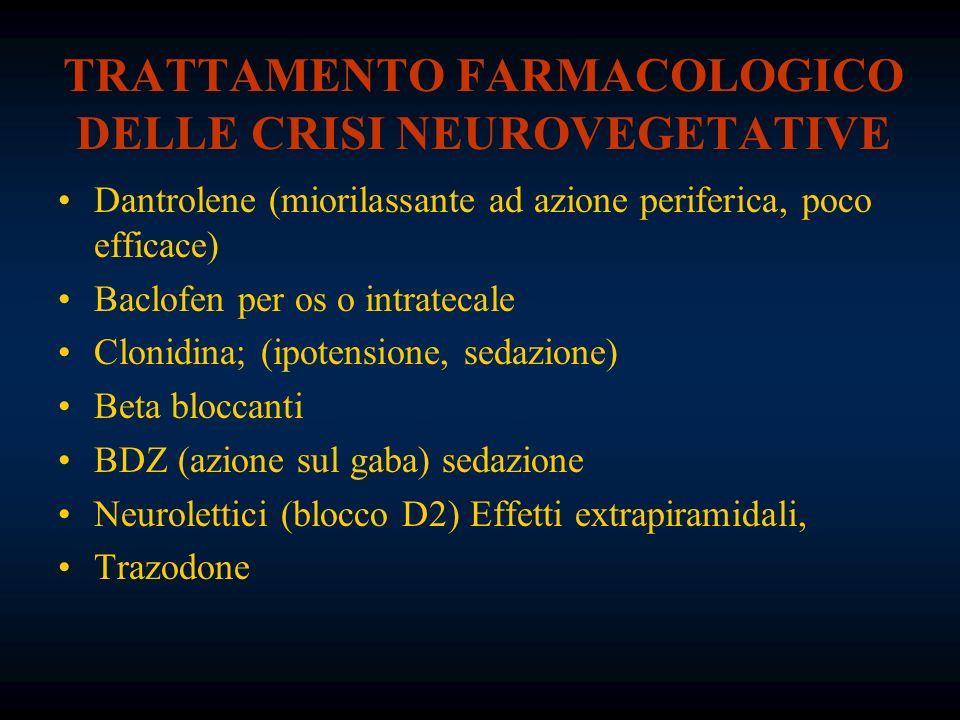TRATTAMENTO FARMACOLOGICO DELLE CRISI NEUROVEGETATIVE