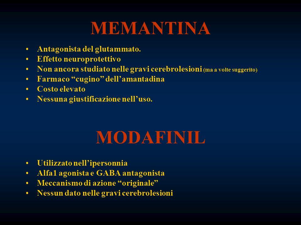 MEMANTINA MODAFINIL Antagonista del glutammato.