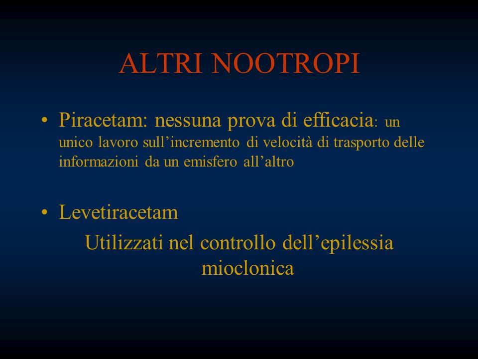 Utilizzati nel controllo dell'epilessia mioclonica