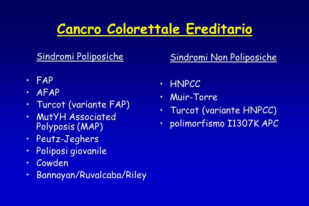 Cancro Colorettale Ereditario