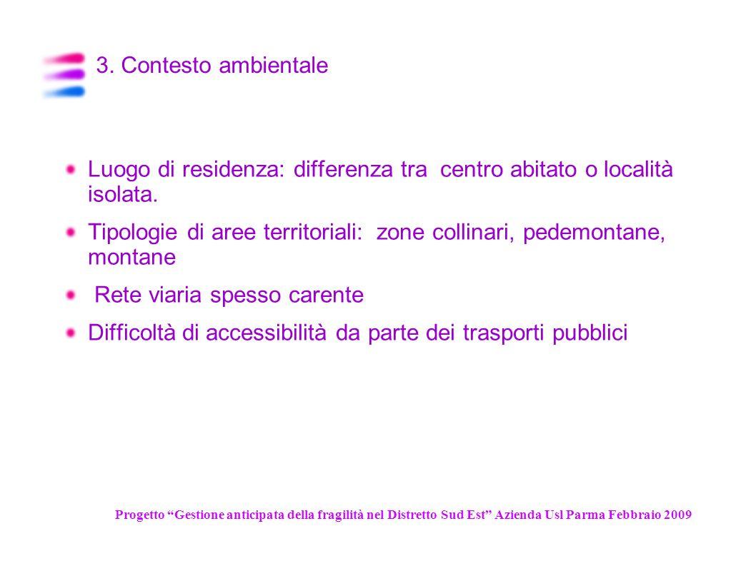 Luogo di residenza: differenza tra centro abitato o località isolata.