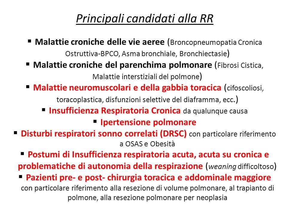 Principali candidati alla RR