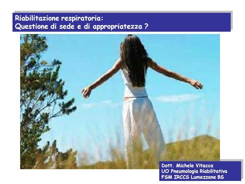 Riabilitazione respiratoria: Questione di sede e di appropriatezza