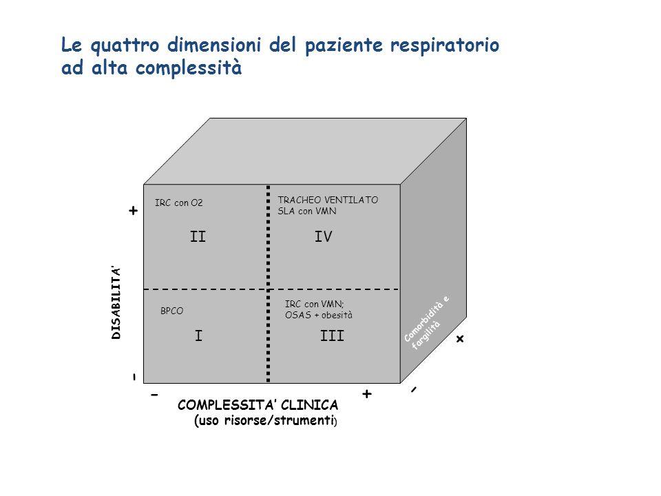 - + - + - + Le quattro dimensioni del paziente respiratorio