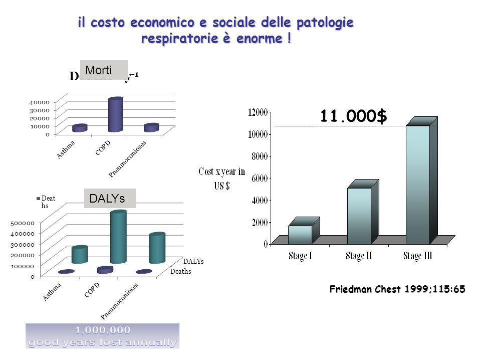 il costo economico e sociale delle patologie respiratorie è enorme !
