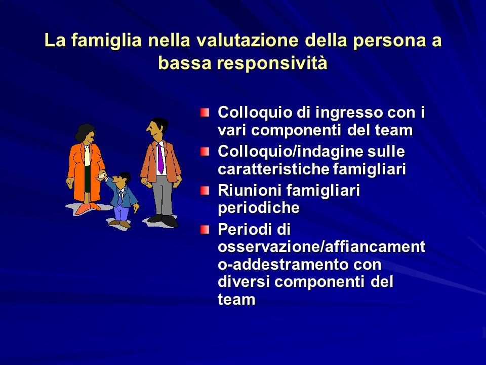 La famiglia nella valutazione della persona a bassa responsività