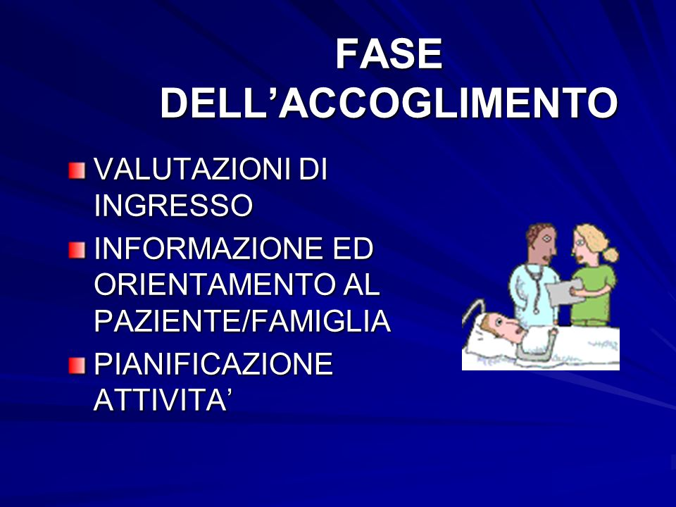 FASE DELL'ACCOGLIMENTO