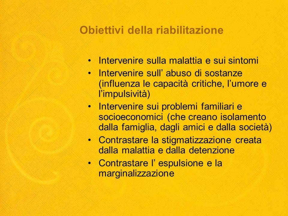 Obiettivi della riabilitazione