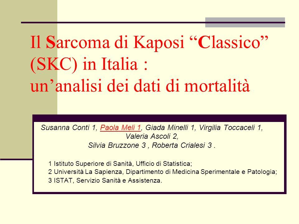 Il Sarcoma di Kaposi Classico (SKC) in Italia : un'analisi dei dati di mortalità