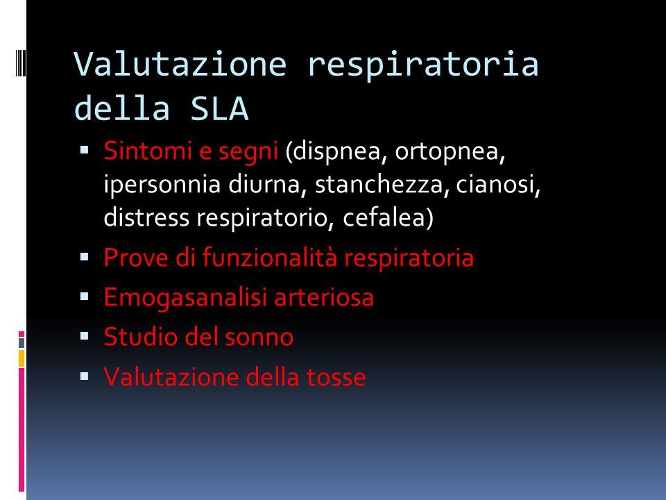 Valutazione respiratoria della SLA