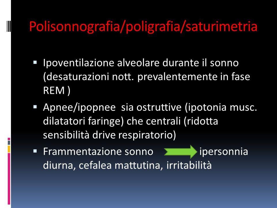 Polisonnografia/poligrafia/saturimetria