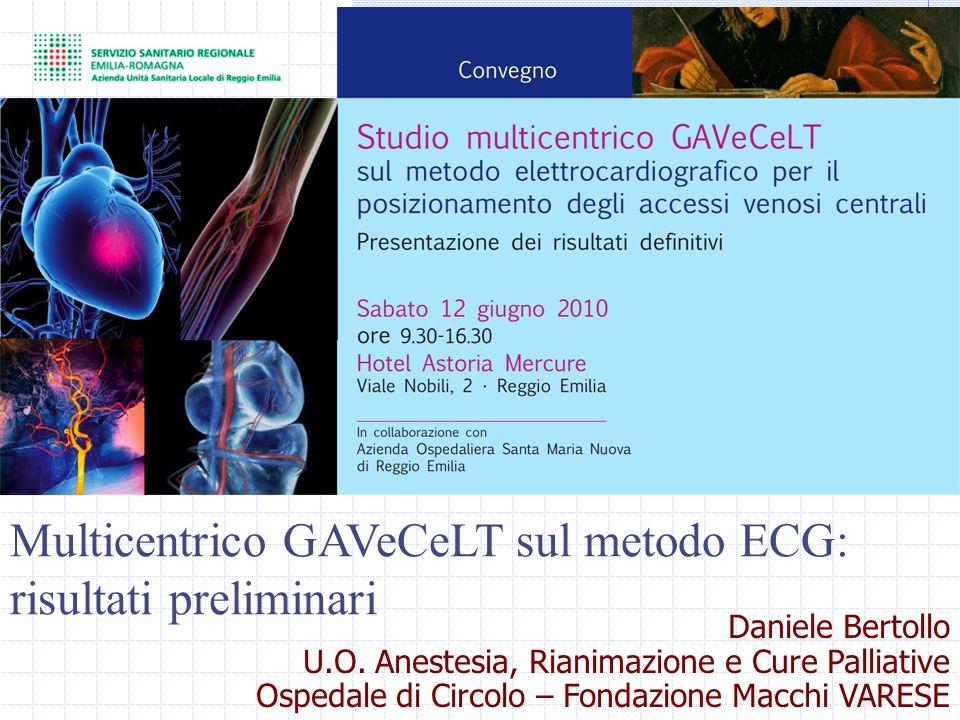 Multicentrico GAVeCeLT sul metodo ECG: risultati preliminari
