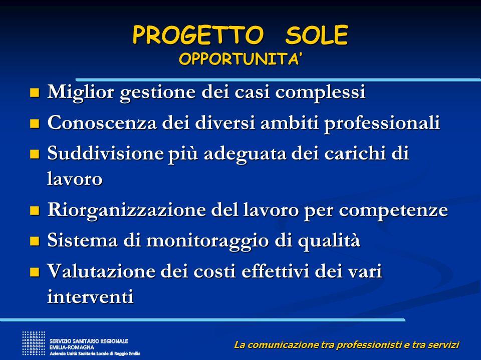 PROGETTO SOLE OPPORTUNITA'