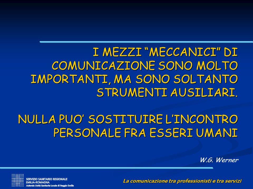 I MEZZI MECCANICI DI COMUNICAZIONE SONO MOLTO IMPORTANTI, MA SONO SOLTANTO STRUMENTI AUSILIARI.