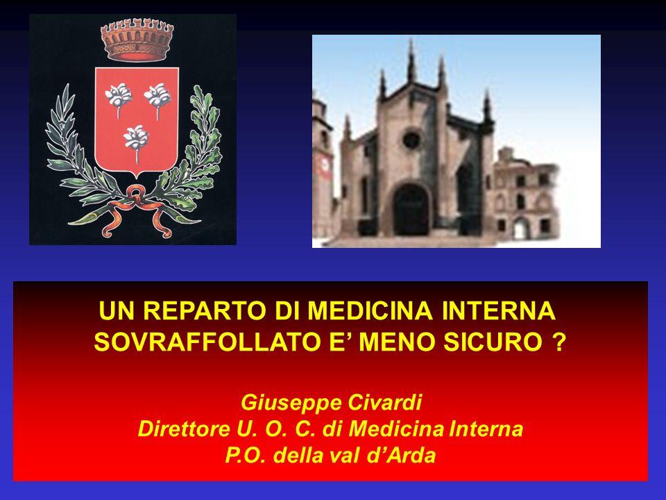UN REPARTO DI MEDICINA INTERNA SOVRAFFOLLATO E' MENO SICURO