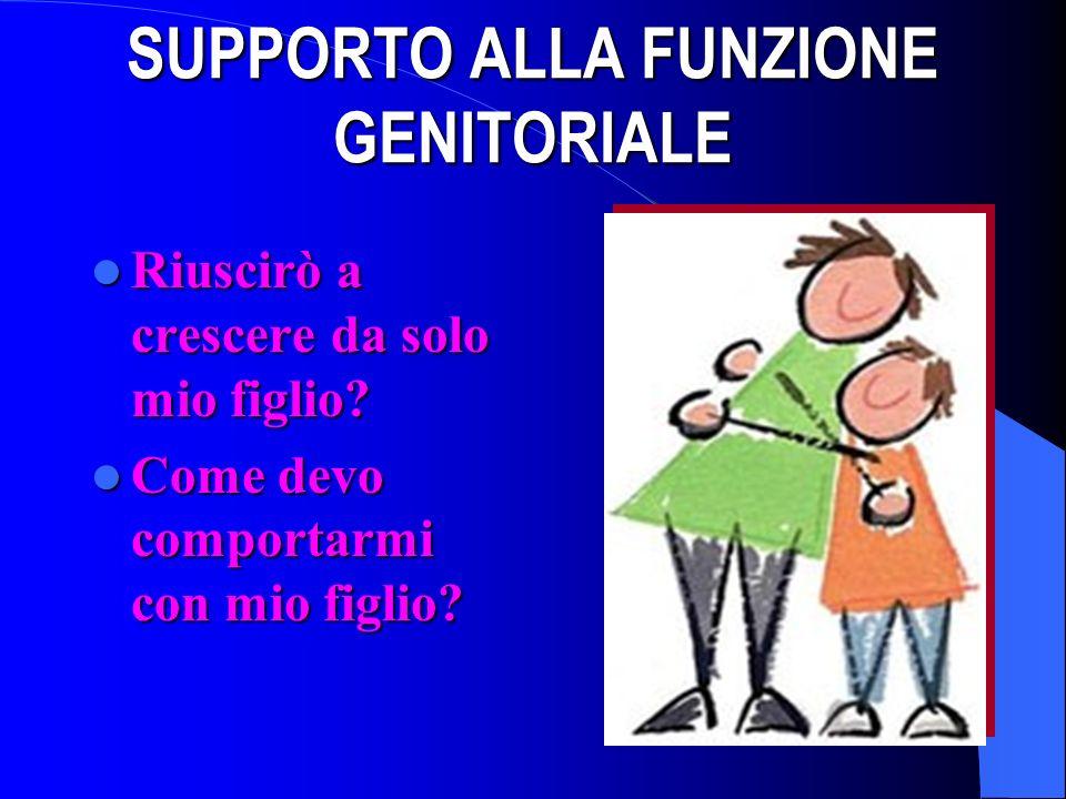 SUPPORTO ALLA FUNZIONE GENITORIALE