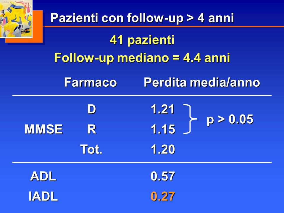 Pazienti con follow-up > 4 anni