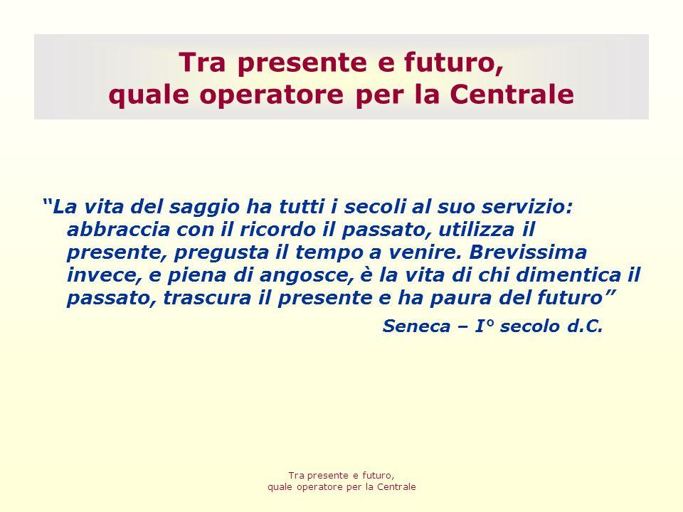 Tra presente e futuro, quale operatore per la Centrale