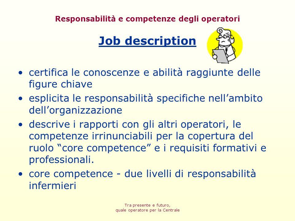 Responsabilità e competenze degli operatori