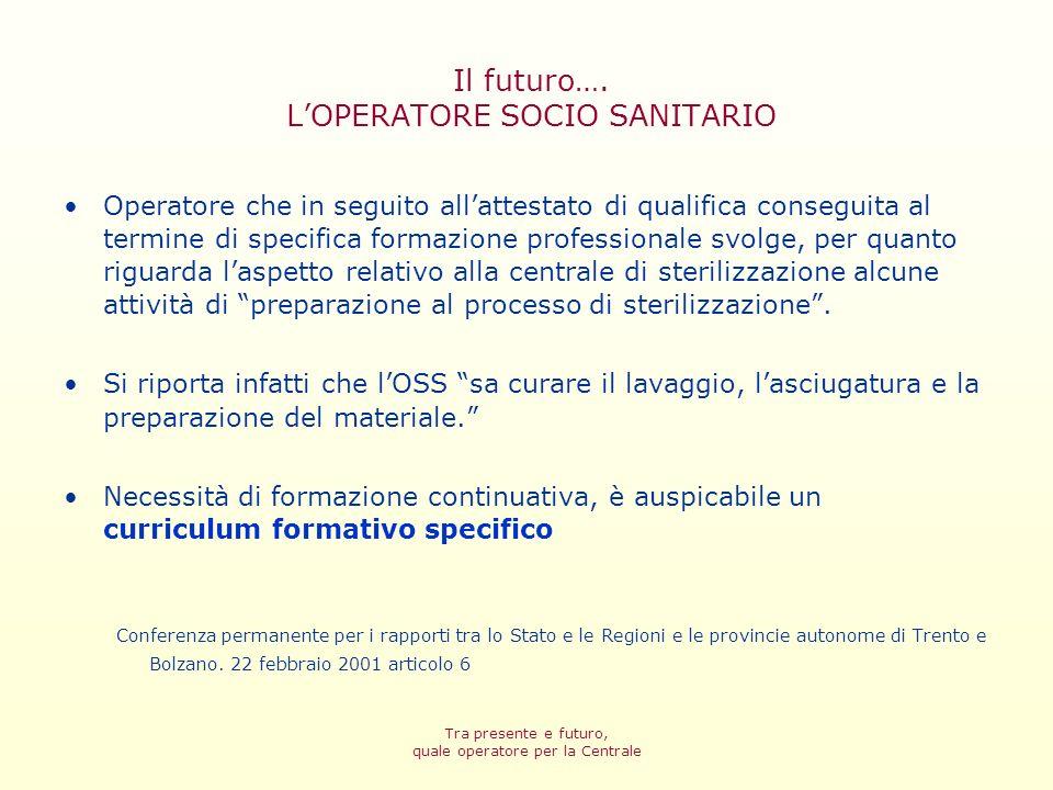 Il futuro…. L'OPERATORE SOCIO SANITARIO