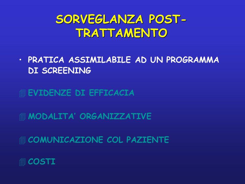 SORVEGLANZA POST-TRATTAMENTO