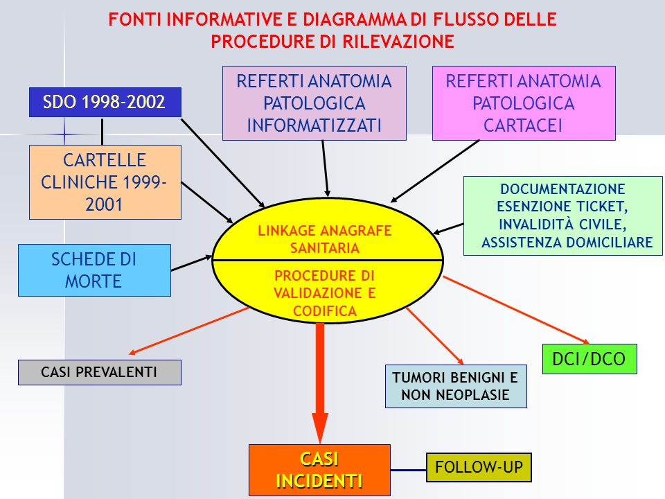 FONTI INFORMATIVE E DIAGRAMMA DI FLUSSO DELLE PROCEDURE DI RILEVAZIONE