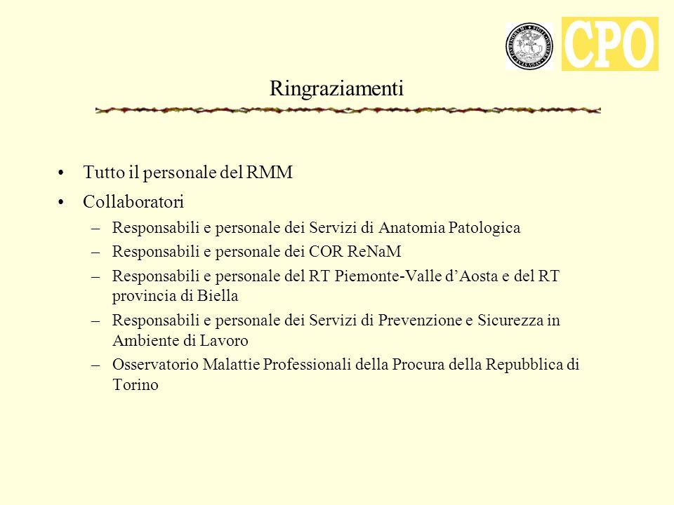 Ringraziamenti Tutto il personale del RMM Collaboratori