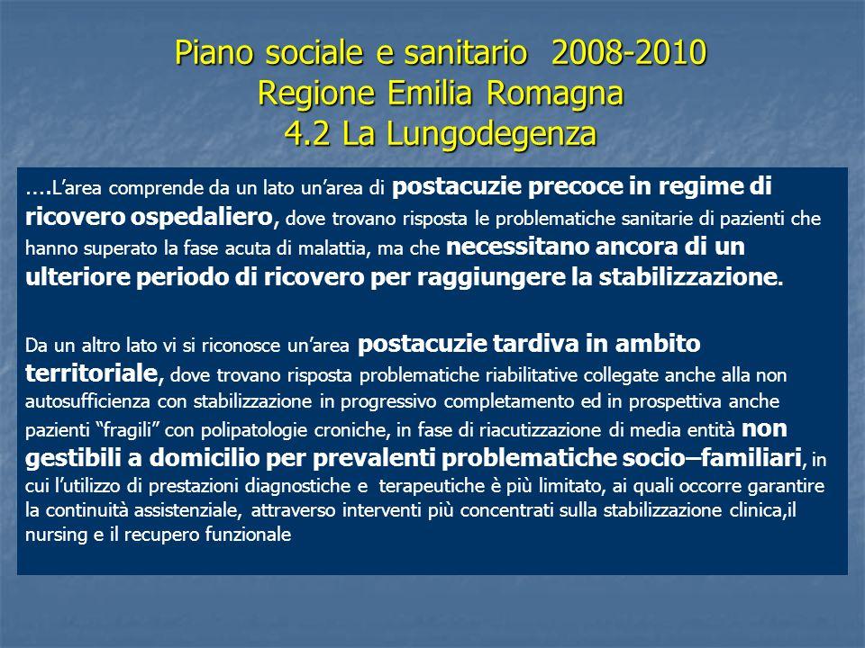 Piano sociale e sanitario 2008-2010 Regione Emilia Romagna 4