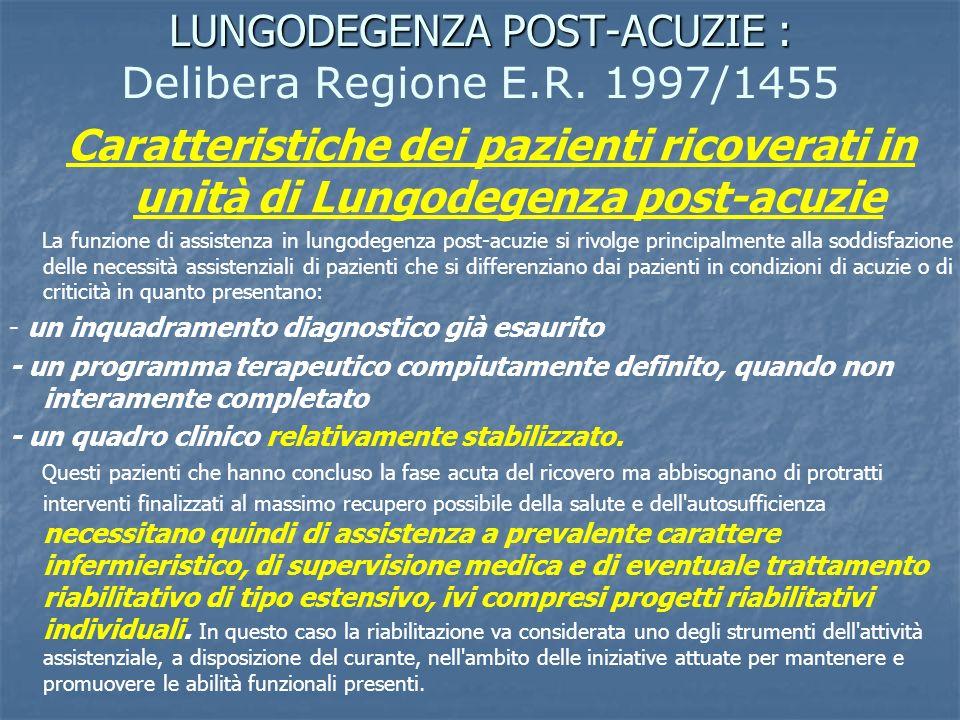 LUNGODEGENZA POST-ACUZIE : Delibera Regione E.R. 1997/1455